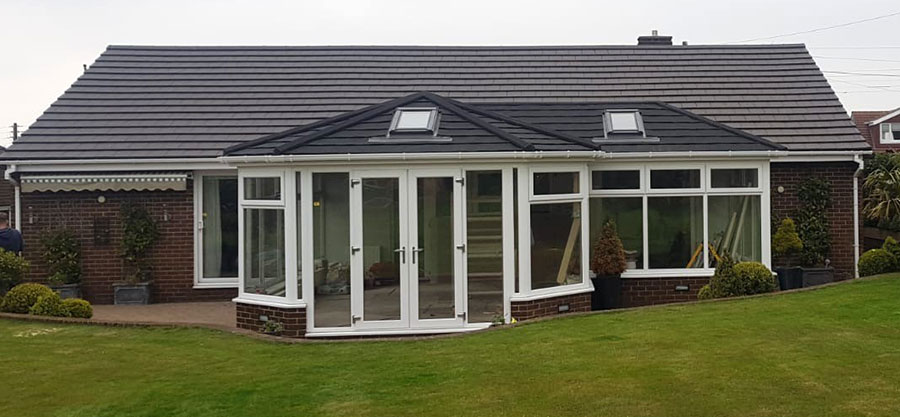 Bungalow Tiled Solid Roof Conservatory