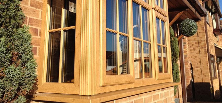 Traditional Wood Grain Windows